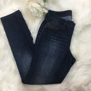 JAG JEANS WITH FAUX LEATHER POCKET DETAIL